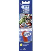 Końcówki wymienne do szczoteczek do zębów Oral-B EB10k-2, Stages Power Kids - Avengers, 2 szt., kolorowy