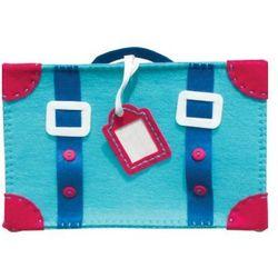Filcowe robótki, walizka niebieska, produkt marki Stnux
