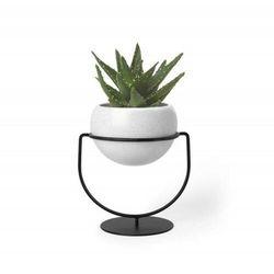 UMBRA doniczka NESTA biała - metal, ceramika