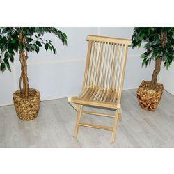 Składane krzesło ogrodowe Gardenay z drewna tekowego