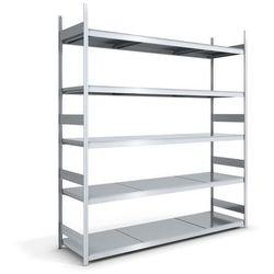 Regał wtykowy o dużej pojemności z półkami stalowymi,wys. 3000 mm, szer. półki 2500 mm marki Hofe