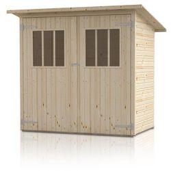 Drewniany domek narzędziowy zimowit marki Megiw