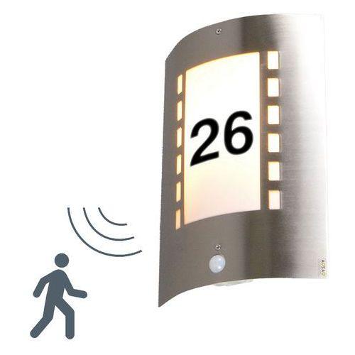 Lampa zewnętrzna Emmerald z czujnikiem ruchu i numerem domu