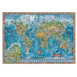 Dziecięcy świat - Ilustrowana mapa świata