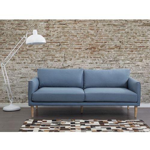 Sofa niebieska - kanapa - sofa tapicerowana - UPPSALA - produkt dostępny w Beliani