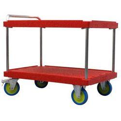 Wózek stołowy do dużych obciążeń, dł. x szer. 1200x800 mm, nośność 1000 kg, czer
