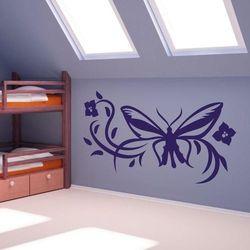 Szablon malarski motyl w kwiatach 1247 marki Wally - piękno dekoracji