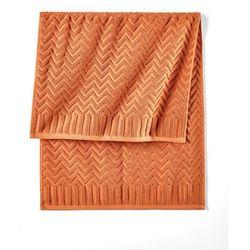 Bonprix Ręczniki w wypukły wzór terakota
