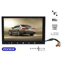 "NVOX HM 910 VGA monitor samochodowy lub wolnostojący LCD 9"" cali LED HD VGA HDMI AV 12V 230V"