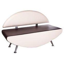 Kanapa do poczekalni Carini BD-6710 krem-brąz (sofa)