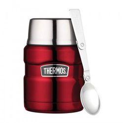 ® - termos obiadowy ze składaną łyżką - czerwony marki Thermos