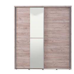 Vente-unique Szafa galina – 2 pary drzwi przesuwnych – z lustrem – dł. 184 cm – dąb