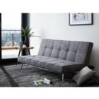 Sofa tapicerowana szara z funkcją spania HASLE