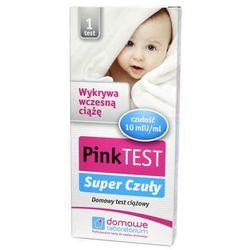 Pink Super Czuły test ciążowy płytkowy x 1 sztuka z kategorii Testy ciążowe