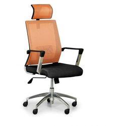 Krzesło biurowe Elite Net, pomarańczowy/czarny
