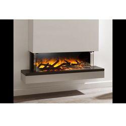 Kominek do montażu ściennego flamerite fires exo 900 15 x 10 cb z nadbudową. efekt płomienia led nitra flame - promcja marki Flamerite fires - nowość 2021