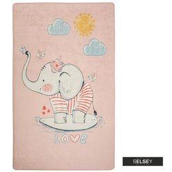 Selsey dywan do pokoju dziecięcego dinkley ślicznotka różowy 100x160 cm (5903025554853)