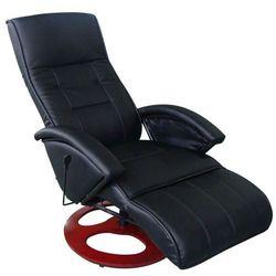 Vidaxl elektryczny fotel masujący ze sztucznej skóry, czarny (8718475806974)