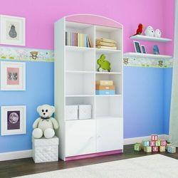Regał do pokoju dziecka, podwójny, babydreams, 90 cm, różowy marki Kocotkids