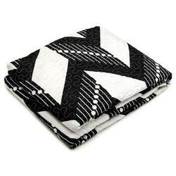 Narzuta + Poszewki 40x40 Czarny + Biały 004 220x240
