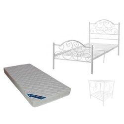 Zestaw chambre dziecięcy leyna – łóżko 90 × 190 cm + materac i szafka nocna – kolor biały marki Vente-unique