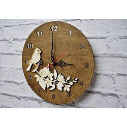 Zegar Ścienny Papuga, kolor Zegar