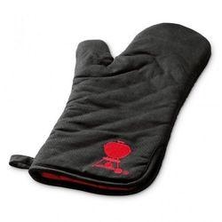 Rękawica  do grilla czarna z czerwonym logo, Weber