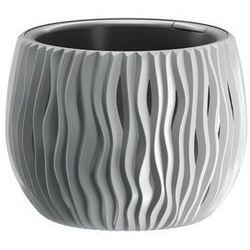 Prosperplast Doniczka sandy bowl z wkładem 18 cm szara (5905197224534)