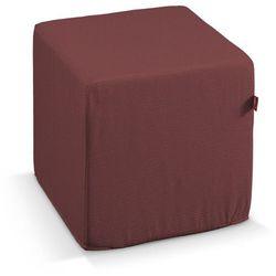 pufa kostka twarda, rudo-brązowy sztruks, 40x40x40 cm, manchester marki Dekoria