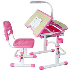 Sorriso pink - ergonomiczne, regulowane biurko dziecięce + krzesełko - złap rabat: kod30 marki Fundesk