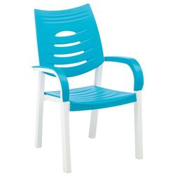 FOTEL KETTLER HAPPY WHITE TURQUOISE z kategorii Krzesła ogrodowe