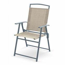Składane krzesło ogrodowe Soner - popiel