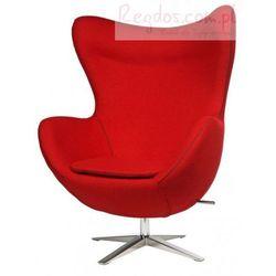 Fotel Jajo szeroki tkanina czerwona 2712 z przeszyciem