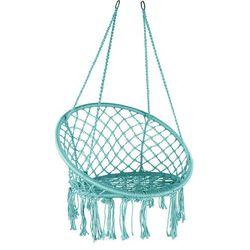 Domarex Wiszący fotel-huśtawka Luna turkusowy, 60 x 80 x 120 cm, 692692