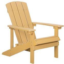 Krzesło ogrodowe żółte ADIRONDACK (4251682202435)