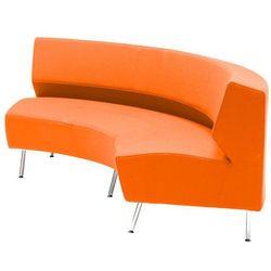 Pomarańczowa sofa skrętna do wewnątrz - system sof modułowych
