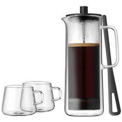 kawiarka tłokowa z 2 filiżankami do kawy srebrny, przezroczysty marki Wmf