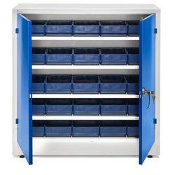 Szafka warsztatowa z pojemnikami, 25 pojemników, 1000x1000x400 mm