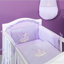 MAMO-TATO pościel 2-el Śpioch na chmurce w fiolecie do łóżeczka 70x140cm