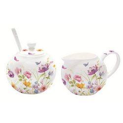 - cukiernica z łyżeczką i mlecznik do kawy marki R2s