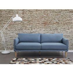 Sofa niebieska - kanapa - sofa tapicerowana - UPPSALA, kup u jednego z partnerów