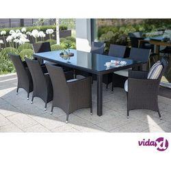 rattan meble ogrodowe 8 krzeseł, 220 cm italy marki Beliani