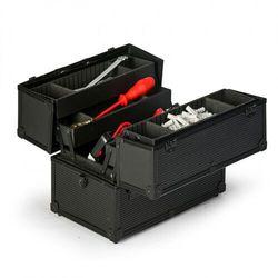 Rozkładana walizka aluminiowa na narzędzia, 370 x 233 x 278 mm marki B2b partner