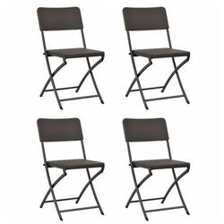 Komplet krzeseł na taras otavio - 4 szt marki Elior