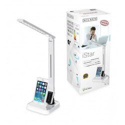 Lampka biurkowa nilsen iSTAR LED biała + dok ładowarka iPhone