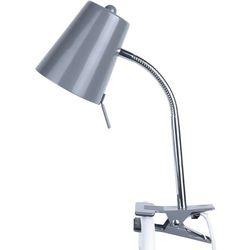 Leitmotiv Lampka biurkowa mocowana do blatu biurka clip on  szara
