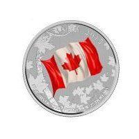 25 Dolarów Kanadyjskich na okoliczność 50-lecia flagi kanadyjskiej
