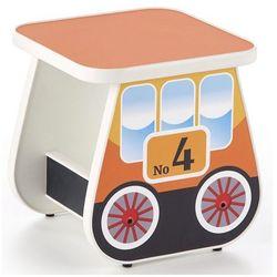 Taboret dla dziecka wagonik milo 4x - pomarańczowy marki Producent: elior
