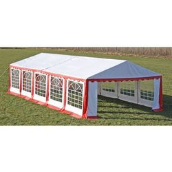pawilon ogrodowy 10x5m (dach+penele boczne), czerwono-biały marki Vidaxl