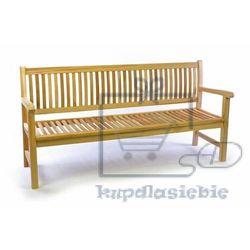 Divero 3 osobowa ławka ogrodowa z drewna tekowego 180 cm (4025327052118)